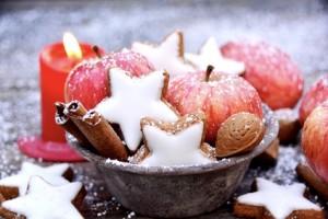 Zimtsterne und pfel - Grukarte - Weihnachtsgebck