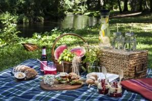 Picknickszene am Wasser